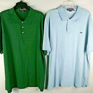 Vineyard Vines Mens XXL Blue Green Shirt Lot of 2